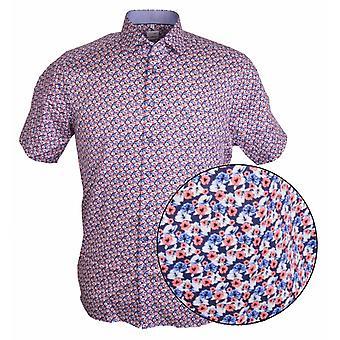 OLYMP Olymp Floral Print Short Sleeve Shirt