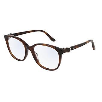 Cartier C Decor CT0007O 003 Havana SunGlasses