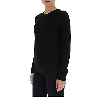 Laneus Mgd1264cc8nero Women's Black Cotton Sweater