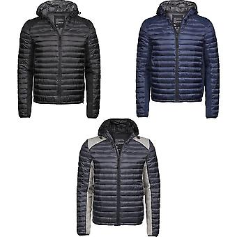 Tee Jays Mens Crossover Hooded Padded Outdoor Jacket
