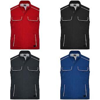 James And Nicholson Adults Unisex Workwear Softshell Padded Vest
