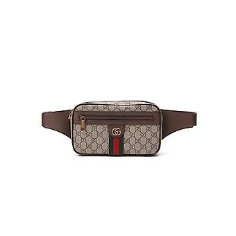 Gucci 57479697sit8747 Men's Brown Fabric Pouch