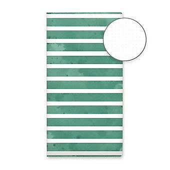 Piatek13 - Dot journal 04 Green stripes P13-DOT-04