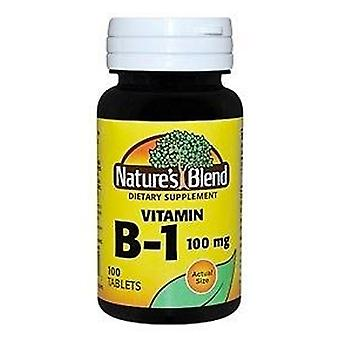 Nature's blend vitamin b1, 100 mg, tablets, 100 ea