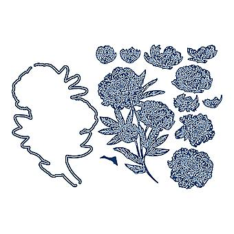 Tattered Lace Eastern Peony Die Set