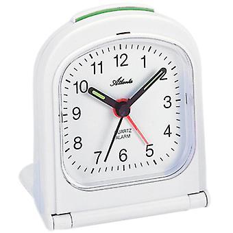 Atlanta 1267/0 Herätyskello matka herätyskello taitto herätyskello kvartsi analoginen valkoinen