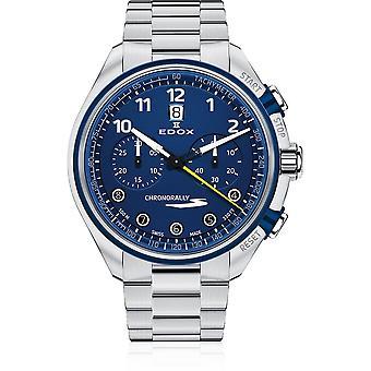 Edox - Wristwatch - Unisex - Chronorally-S - Chronograph Automatic - 08005 3BUM BUBG