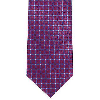Michelsons Londyn kraty krawat poliestrowy wyboru - różowy