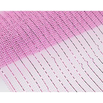 Metallic Pink 25cm x 9.1m Deco Mesh Roll for Wreath Making & Floristry Crafts