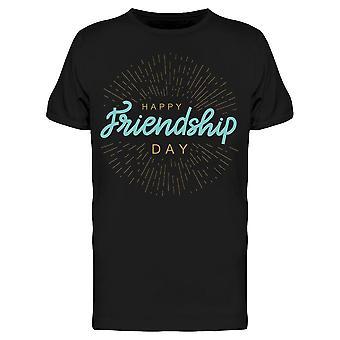 Happy Friendship Quote Tee Men's -Kuva Shutterstock