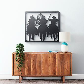 Metal Wall Art - Cowboys