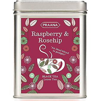 Praana Tea - Black Tea With Rosehip & Raspberry Pieces-gift Tin-100g