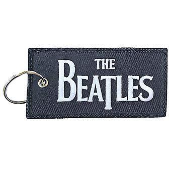Beatles Avaimenperä Avaimenperä Classic Drop T Band Logo Patch uusi virallinen musta