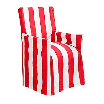 Outdoor Stripe Director Chair Cover Std Red