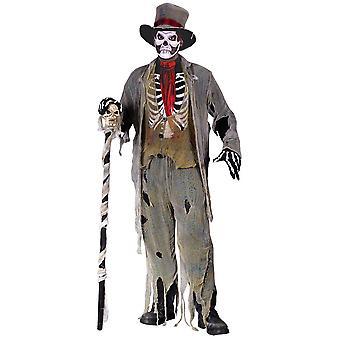 Zombie brudgum Adult kostym