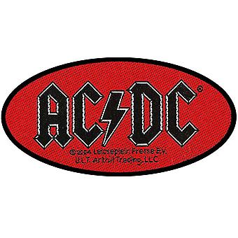 AC/DC Patch Oval Classic Band Logo new Official woven sew on