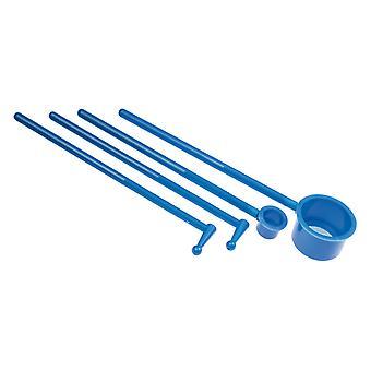 Kit de peneiração de esmalte com peneiras de malha e linha