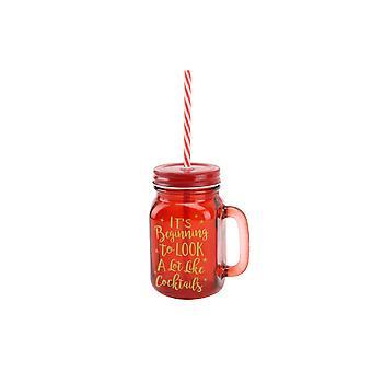 CGB regalos Navidad empezando a parecer mucho en cócteles Mason Jar