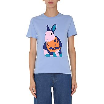 Ps Door Paul Smith W2rg799ep200543 Women's Light Blue Cotton T-shirt
