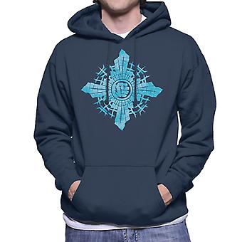 Marvel Christmas The Avengers Hulk Smash In Snowflake Men's Hooded Sweatshirt
