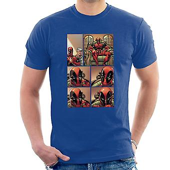 Marvel Deadpool Comic Panel Men 's T-Shirt