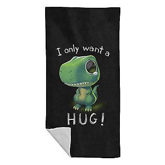 Cute T Rex I Only Want A Hug Beach Towel