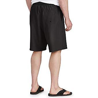 Essentials Men & apos&s كبيرة وطويلة القامة سريعة الجافة الجذع السباحة تناسب من قبل DXL, أسود, 4XL