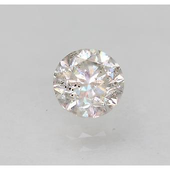 Certified 0.62 Carat F SI2 Round Brilliant Enhanced Natural Loose Diamond 5.18mm