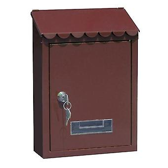 Outdoor Lockable Metal Wall Mounted Mail Box With Key For Home Garden Decoration Garden