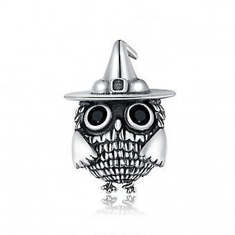 Sterling Sølv Charme Halloween ugle - 6682