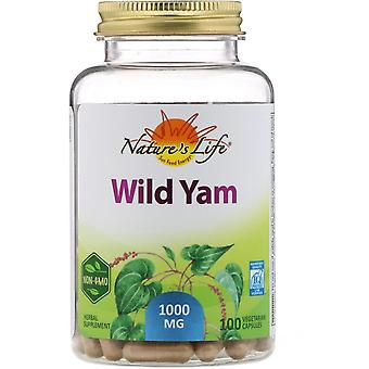 Nature's Life, Wild Yam, 1,000 mg, 100 Vegetarian Capsules