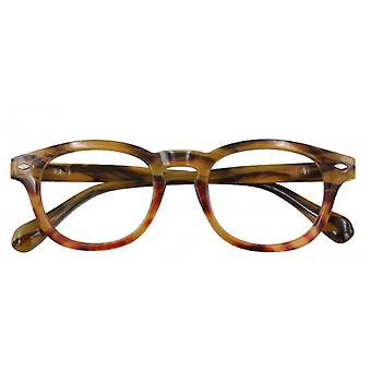 Reading glasses Unisex Bowie multifocal brown/red strength +2.50