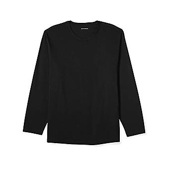 Essentials Men's Groß & groß Langarm T-Shirt, schwarz, 4X
