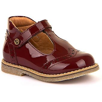 Froddo Girls G2140049-2 T-bar Shoes Bordeaux Patent