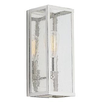1 Licht indoor kaarsmuur licht gepolijst nikkel, E27