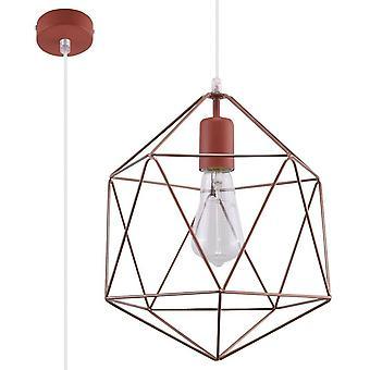 Sollux GASPARE - 1 licht gekooid plafond hanger koper, E27