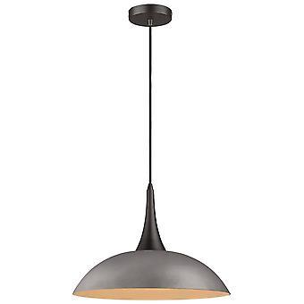 1 Light Dome Ceiling Pendentif Noir, Ciment, E27