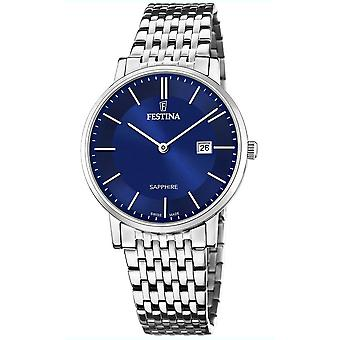Festina swiss made watch for Analog Quartz Men with stainless steel bracelet F20018/2