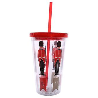 Guardsman Double Walled Cup with Lid and Straw