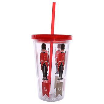 Guardman Double Walled Cup s víkem a slámou