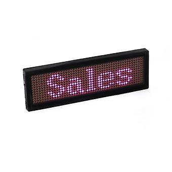 Bluetooth Programmable Rgb Led Name Badge Rechargeable Mini Scrolling Led