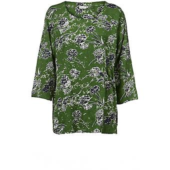 Masai Clothing Britt Green Patterned Top
