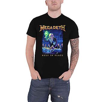 Megadeth T Shirt Rust In Peace Tracklist Band Logo new Official Black