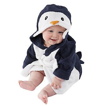 Baby Cartoon Animal Hoodie, Bath Towel- Infant Flannel Bathing Bathrobe Long