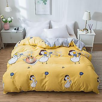 dual-sided Duvet Cover  soft Comfortable Cotton Printing Comforter -textiles Quilt Cover set 5