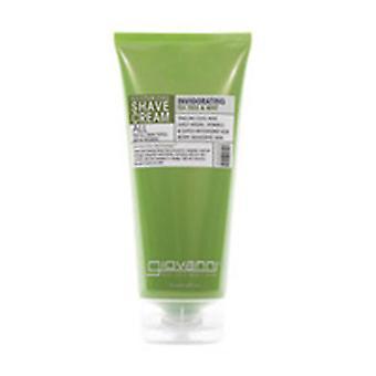 Giovanni Cosmetics Shaving Cream, Tea Tree & Mint 7 oz