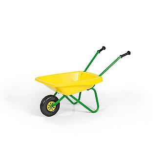 Rolly Metal & Plastic Wheelbarrow Yellow & Green