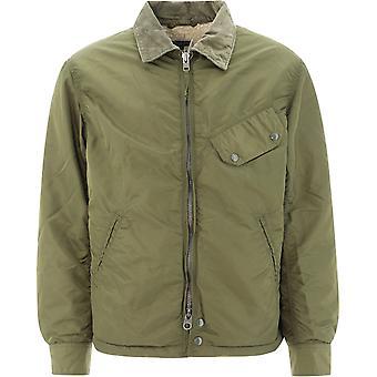 Engineered Garments 20f1d009ct064 Men's Green Nylon Outerwear Jacket