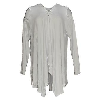 Joan Rivers Classics Collection Women's Top Draped Cardigan White A306705