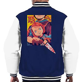 Chucky wil Mes heren's Varsity Jacket spelen